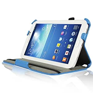 IVSO® Slim-fit Stand Cover Case for Samsung Galaxy Tab 3 7.0 Tablet (Blue)