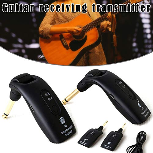 Ambility 2.4GHz Wireless Guitar System Transmitter A9 Receiver Built-in Rechargeable Accessories (Wireless Instrument Transmitter)