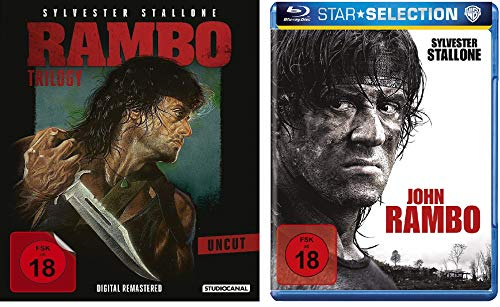 Blu-Ray Rambo 1-4 alle Teile BD Set, Bundle, FSK18 in Deutsch Uncut-box