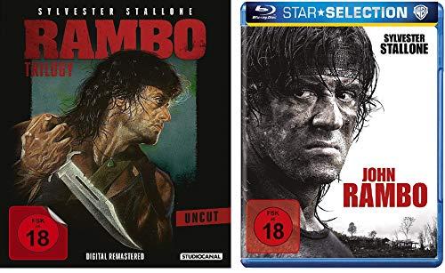 Blu-Ray Rambo 1-4 alle Teile BD Set, Bundle, FSK18 in Deutsch