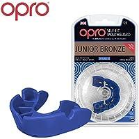 Protector bucal para niños OPRO Self Fit GEN 3 Junior Bronze Para rugby, hockey, artes marciales mixtas - Garantía dental de 5.500 € Los protectores bucales de OPRO se diseñan y fabrican en el Reino Unido (Azul)