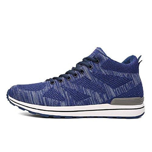 Uomo Piatto Scarpe sportive Leggero Scarpe casual Scarpe da corsa formatori euro DIMENSIONE 38-44 Blue