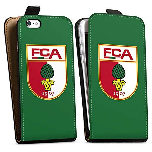 Apple iPhone X Silikon Hülle Case Schutzhülle FC Augsburg Fanartikel Fußball Downflip Tasche schwarz