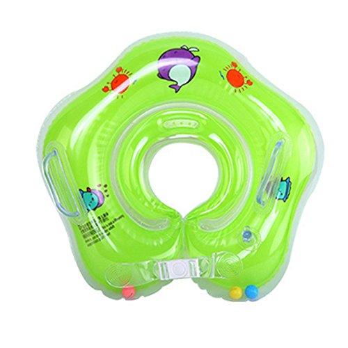 Xueliee Baby Schwimmen Ring, aufblasbar Baby Pool Schwimmbrett mit Sitz ideal für Kinder Planschbecken, D3 Orange/Fits: 0-18 Months Baby