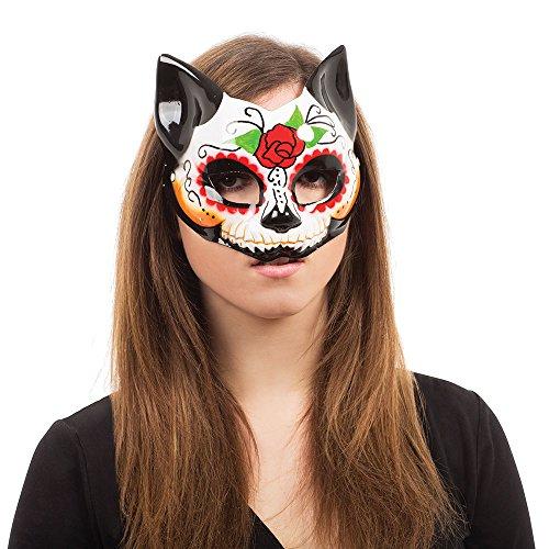 Bristol Novelty EM762 Tag der Toten Maske, Bunt, Damen, Mehrfarbig, Einheitsgröße (Der Toten-maske Der Tag)