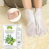 Hunpta olives Hot enlever la peau morte Pied Masque Peeling cuticules Talon Pieds Soin anti-âge blanc blanc