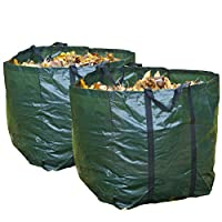 Speedwellstar 2 x Garden Bags Very Strong Quality Heavy Duty Waste Refuse Rubbish Grass Sack Waterproof Reusable Large