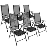 Die besten Garten & Terrasse Terrasse Stühle - Nexos 6er Set Klappstuhl Gartenstuhl Campingstuhl Liegestuhl Bewertungen