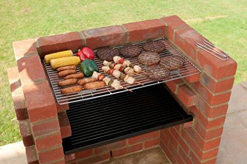 Kit avec grille de chauffage pour barbecue en briques, 67 x 39cm, conforme à la norme BS EN 1860:2013-1,design sûr et de qualité, BKB101