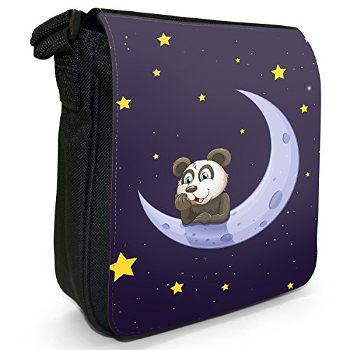 Fancy A Snuggle, Borsa a tracolla donna Fröhlicher niedlicher Panda lächelnd