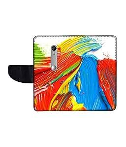 KolorEdge Printed Flip Cover For Motorola Moto G3 Multicolor - (1478-50KeMLogo12075MotoG3)