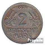 BRD (BR.Deutschland) Jägernr: 386 1951 D sehr schön Kupfer-Nickel 1951 2 Deutsche Mark Ähren (Münzen für Sammler)