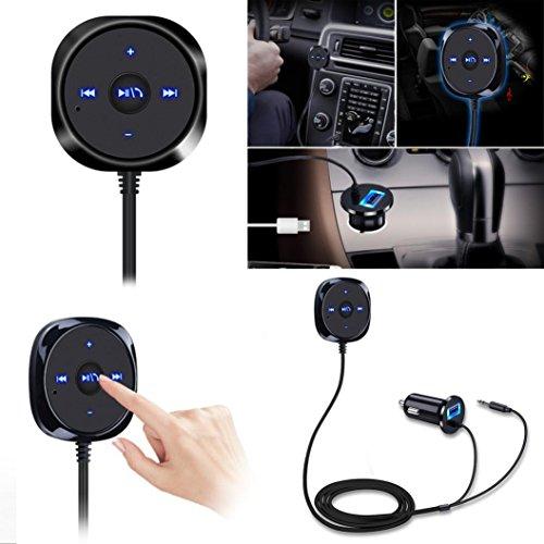 Preisvergleich Produktbild Omiky® 2017 Art und Weise Bluetooth 4.0 Adapter Wireless Music Receiver 3,5 mm AUX-freihändiger Auto-Lautsprecher