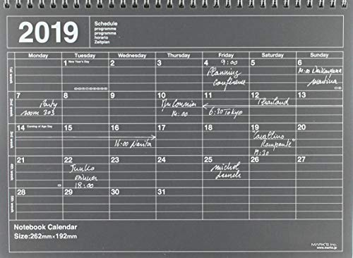MARK'S 2019 Tischkalender M // Black