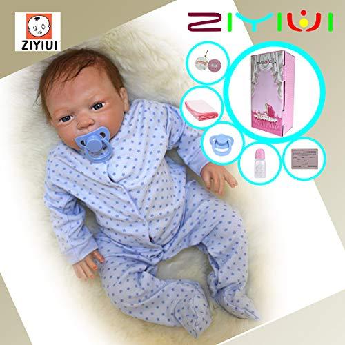 ZIYIUI 50 cm Realistic Silicona Muñecos Bebé 20 ' Vinyl Recién Nacido Bebé Recién Nacido Reborn Baby Doll