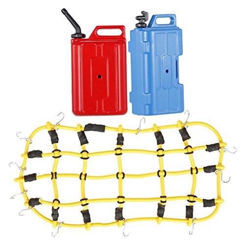 Yeti-tank (Gazechimp Combo Set, Elastic Gepäcknetz + Mini Öltank/Benzin Tank+Wasserkrug für 1:10 Rc Rock Crawler)