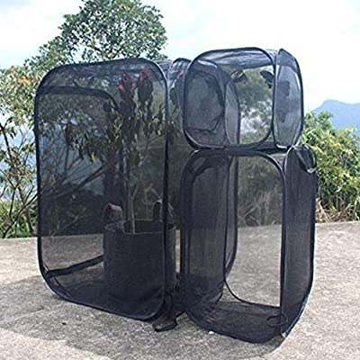 blendivt Insect And Butterfly Habitat Cage,Black Plant Greenhouse Transparent Cultivation Room Anti - Mosquito Box Butterfly Pet Cage Butterfly Plant(Black) by blendivt