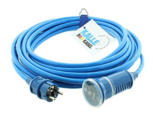 KALLE DAS KABEL SCHUKO Polyurethanverlängerung 230V H07BQ-F 3G 2,5 mm² 15 Meter