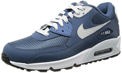 Nike Air Max 90 Essential, Baskets mode homme Bleu (Binary Blue/anthrazit/wolf Grey/cool Grey)