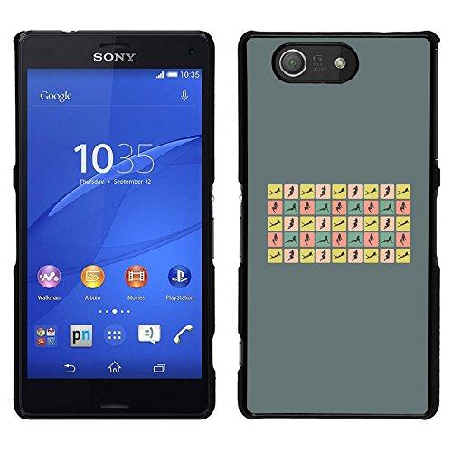 Good Phone Accessory // Dura Protettivo Custodia Coperchio Caso Hard Plastic Protective Case for Sony Xperia Z3 Compact // Donna sexy pone Curvy Corpo Hour Glass