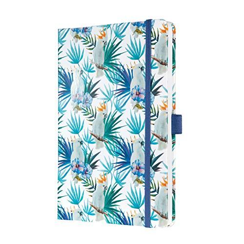 SIGEL JN325 Notizbuch Jolie, ca. A5, liniert, blau, tropisches Motiv - viele Modelle -