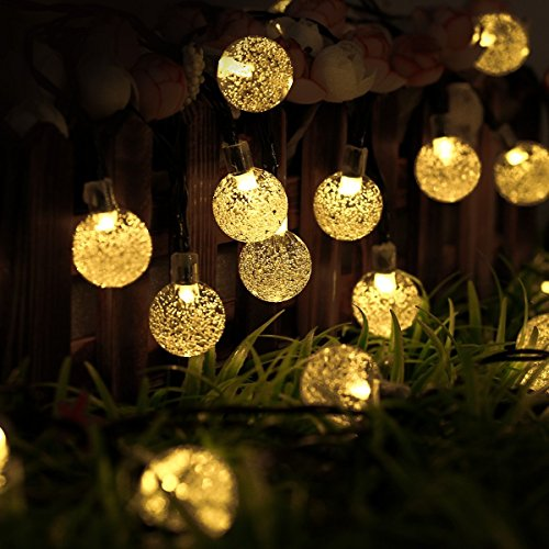 outdoor-solar-lights-strings-bftop-20ft-30-led-waterproof-fairy-bubble-crystal-ball-lights-decorativ