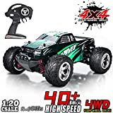 MaxTronic RC Cars, RC Auto Rock Offroad Racing Fahrzeug Crawler Truck 2,4 Ghz 4WD High Speed 1:20 Radio Fernbedienung Buggy Elektro Fast Race Hobby- Blau (Grün)