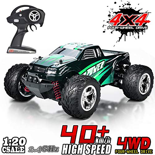 MaxTronic RC Cars, RC Auto Rock Offroad Racing Fahrzeug Crawler Truck 2,4 Ghz 4WD High Speed 1:20 Radio Fernbedienung Buggy Elektro Fast Race Hobby- Blau (Grün)*