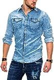 Jack & Jones NOS Herren Jeanshemd JJESHERIDAN Shirt L/S NOOS, Weiß (White Denim Fit: Slim), Large(Herstellergröße:L)