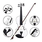 Andoer® 4/4 Violin Fiddle Basswood Steel String Arbor Bow Stringed Instrument for Music Lovers Beginners