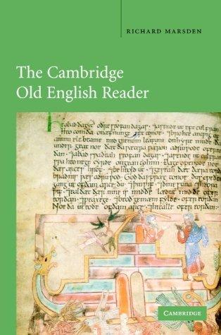 The Cambridge Old English Reader by Richard Marsden (2004-04-01)