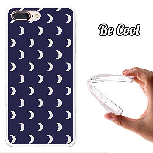 Becool® - Flexible Gel Schutzhülle für iPhone 7 Plus, TPU Hülle aus bestem Silikon gefertigt, die dank unserem exklusivem Design sich einwandfrei an Ihr Smartphone anpasst und optimalen Schutz gewährleistet. Weiße Halbmonde