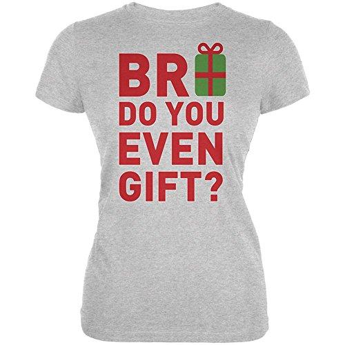 Weihnachten Bro tun Sie sogar Geschenk Heather Grey Junioren weiches T-Shirt Grey