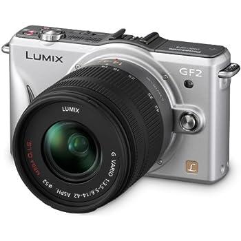 Panasonic Lumix DMC-GF2KEG-S Systemkamera (12 Megapixel, 7,5 cm (3 Zoll) Display, Full HD, bildstabilisiert) titan-silber inkl. Lumix G Vario 14-42mm Objektiv