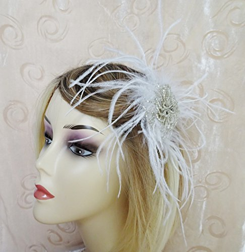 stunning-marabou-feather-and-silver-bugle-bead-fascinator-hair-clip-grip-vintage-20s-inspired-design