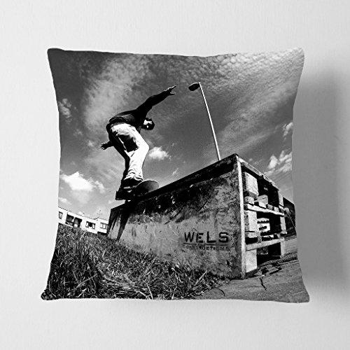 BIG Box Art weiß, die Skateboard Skaten 10,2cm Polster Überwurf Kissen, mehrfarbig, 43x 43cm