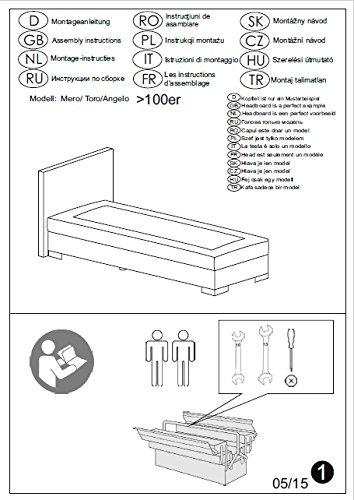 Aufbauanleitung zum Boxspringbett Home, Made in Germany