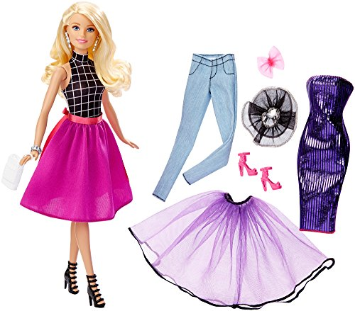 Barbie DJW58 - Barbie Cambia Look Bionda, Multicolore