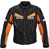 Pharao Motorradschutzjacke, Motorradjacke Reise Textiljacke 3.0 orange M, Herren,...
