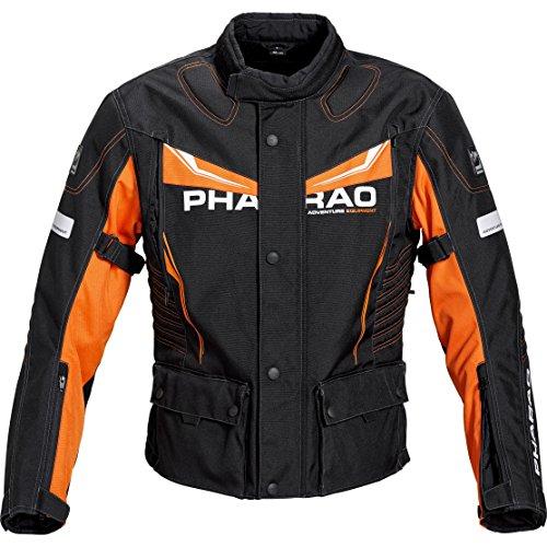 Pharao Motorradjacke, Motorrad Jacke Reise Textiljacke 3.0 orange M, Herren, Enduro/Reiseenduro, Ganzjährig