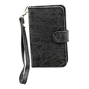 Jo Jo A9 Classic Leather Carry Case Cover Pouch Wallet Case For Samsung Galaxy Win I8552 with Dual SIM card support Grey