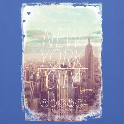 Spreadshirt SmileyWorld New York City Wolkenkratzer Stoffbeutel Hellblau