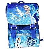 Disney Frozen Elsa Zaino Estensibile Scuola Elementare Medie con Gadget in Omaggio