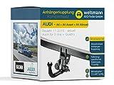 Weltmann 7D010011 AUDI A4 - Abnehmbare Anhängerkupplung inkl. fahrzeugspezifischer 13-poliger Elektrosatz