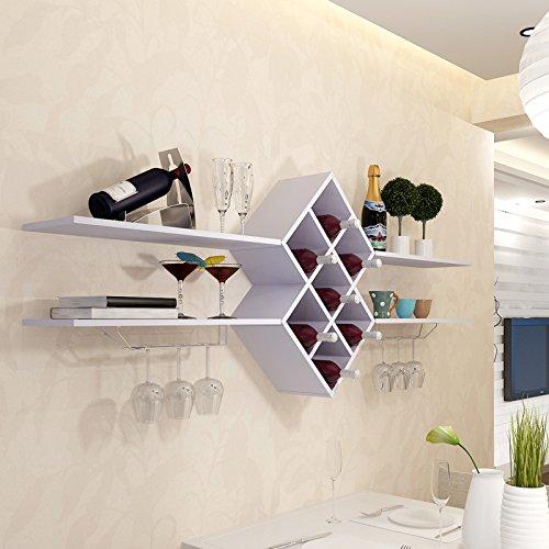 Portabottiglie da parete liquore armadio vino vino legno - Portabottiglie in legno da parete ...