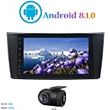Android 8.1.0 Autoradio, Hi-azul Car Radio In-Dash 8 Zoll Car Stereo GPS Navigation Moniciver Navi 4-Core Car Audio für Mercedes-Benz E-W211/E200/E220/E240/E270/E280 (mit DVR)