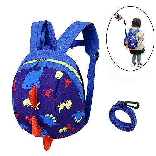 DB Kleinkind-Rucksack mit Zügel, Kid Anti-Lost-Rucksack mit Sicherheitsgurt, Baby-Dinosaurier-Vorschule mit Leine für 1-3 Jungen und Mädchen.