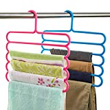 #6: House of Quirk 5 Layer Colorful Trouser Scarf Hangers Holders-White