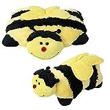 2 in 1 Tierkissen Biene Plüschkissen Kissen Kuscheltier liegend stehend