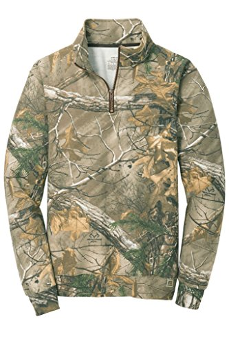 Joe's USA Realtree Xtra Herren Sweatshirt, 1/4-Reißverschluss, Camouflagemuster - - XXX-Large Poly Crewneck Fleece Sweatshirt